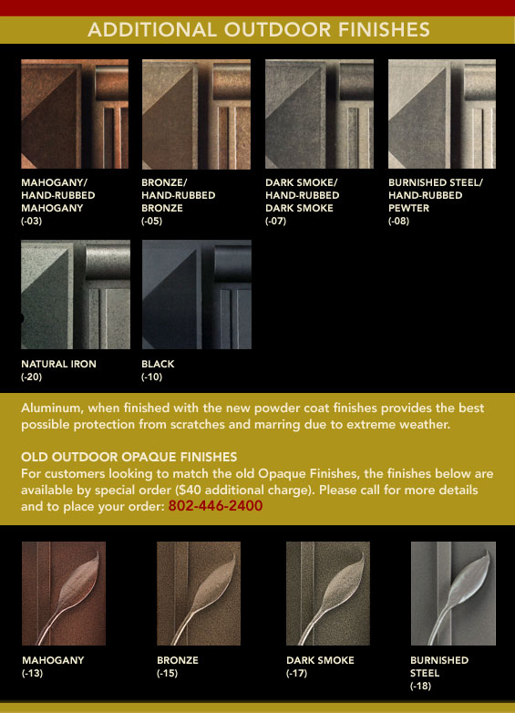 outdoor finishes B